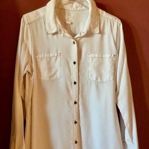White denim shirt from Nordstrom